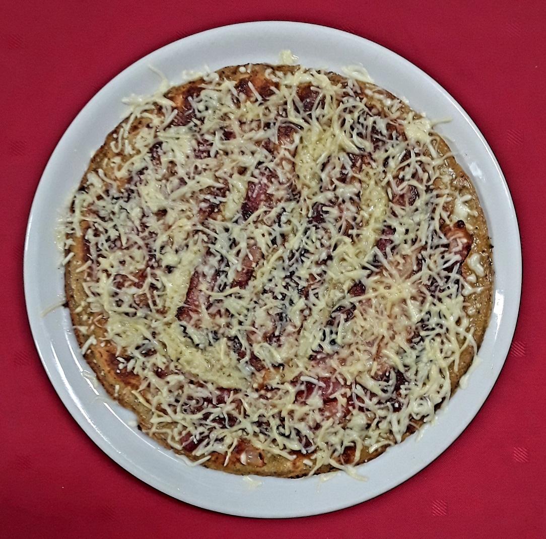 Pannenkoek met spek en kaas